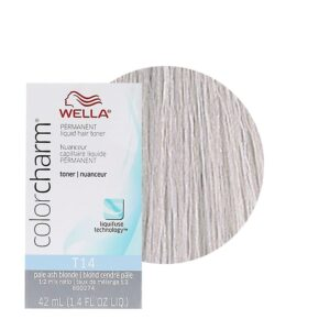 Pale Ash Blonde T14 Wella Color Charm Permanent Liquid Hair Toner