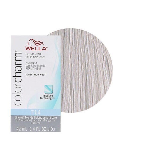 Pale Ash Blonde T14 Wella Color Charm Permanent Hair Toner