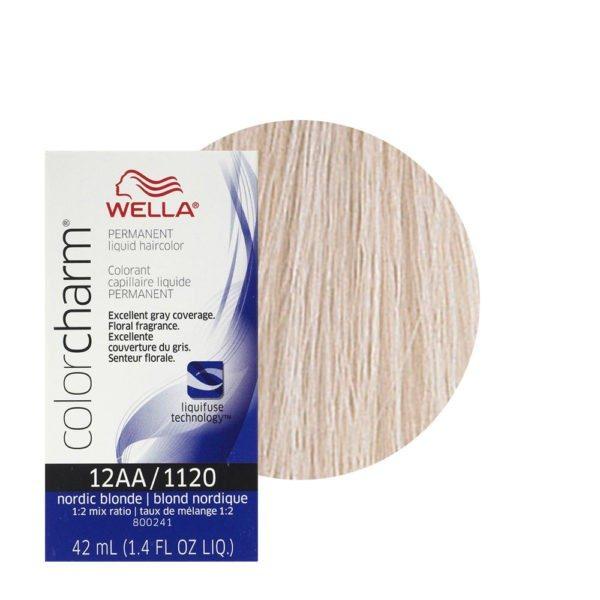 Wella Color Charm Permanent Liquid Haircolor 12AA/1120 Nordic Blonde