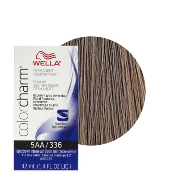 Wella Colour Charm Liquid Creme Hair Colour 336 Light Intense Ash Brown