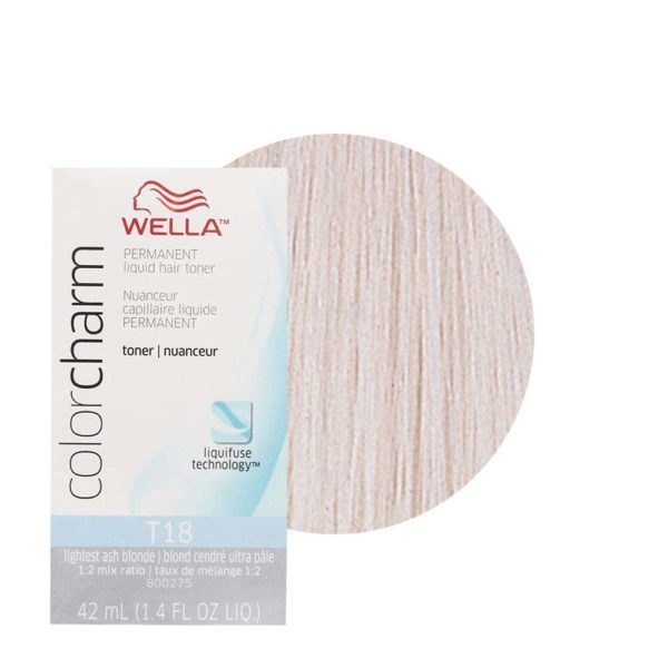 Lightest Ash Blonde T18 - Wella Color Charm Permanent Liquid Hair Toner