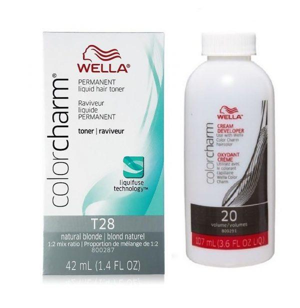 Wella Color Charm Toner T28 + Wella Developer (Vol.20)