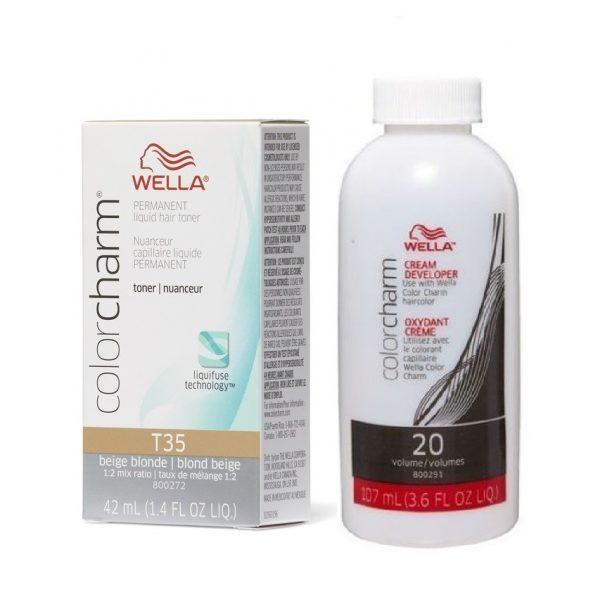 Wella Colour Charm Permanent Liquid Hair Toner Beige Blonde