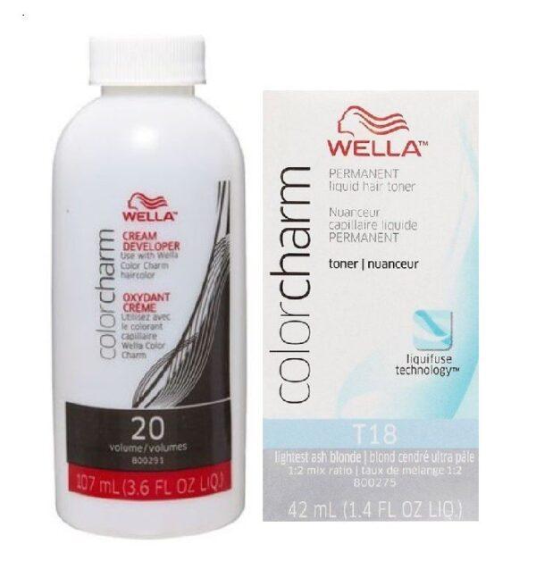 Lightest Ash Blonde T18 Wella Color Charm Permanent Liquid Hair Toner