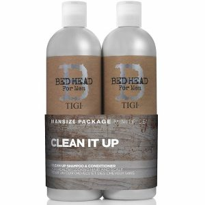 Bed Head for Men by Tigi Clean Up Mens Daily Shampoo and Conditioner