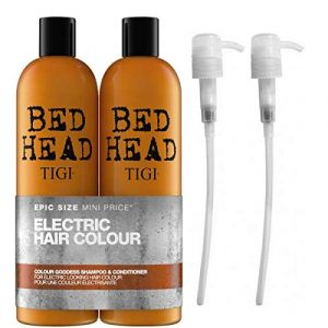 Tigi by Bed Head Colour Goddess Shampoo & Conditioner 750ml with Tigi Pumps