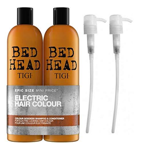 Tigi by Bed Head Colour Goddess Shampoo & Conditioner 750ml with Tigi Pumps