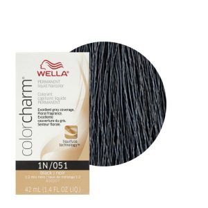 Black 1N/051 - Permanent Liquid Haircolor Wella Color Charm