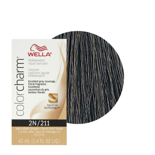 Very Black Brown 2N/211 - Permanent Liquid Haircolor Wella Color Charm