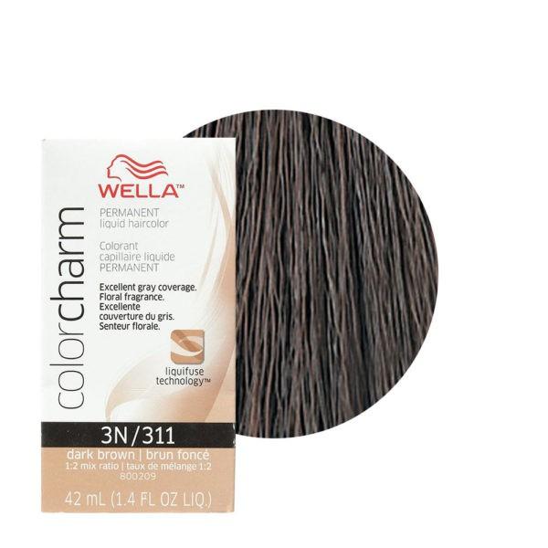 Dark Brown 3N/311 - Permanent Liquid Haircolor Wella Color Charm