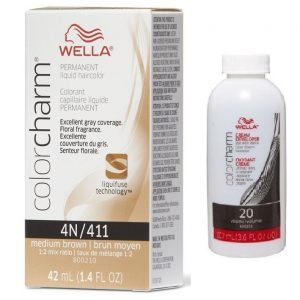Dark Brown 4N/411 - Wella Color Charm Permanent Liquid Haircolor