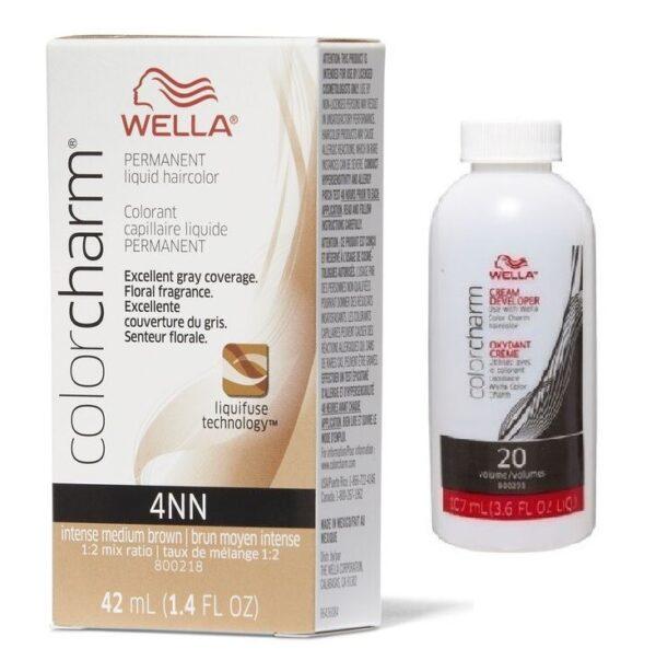 Intense Medium Brown 4NN - Wella Color Charm Permanent Liquid Haircolor