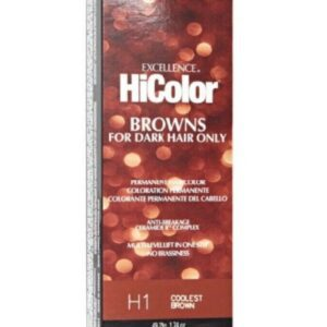 Coolest Brown H1 - L'Oreal Excellence HiColor Browns for Dark Hair Only