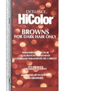 Cool Light Brown H2 - L'Oreal Excellence HiColor Browns for Dark Hair Only