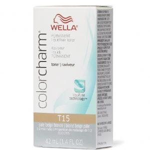 Pale Beige Blonde T15 Wella Color Charm Permanent Haircolor