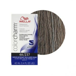 4A/237 Medium Ash Brown - Wella Color Charm Permanent Liquid Haircolor + Developer (Vol. 20)