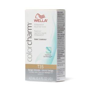 Wella Color Charm Permanent Liquid Hair Toner Wella Color Charm Permanent Liquid Hair Toner Beige Blonde T35