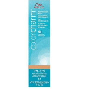 7N –7/0 Medium Natural Blonde Wella Color Charm Demi – Permanent Haircolor