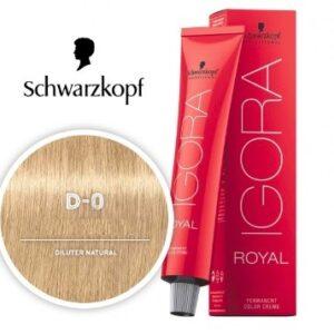 Diluter Natural D-0 Schwarzkopf Royal Igora Permanent Color
