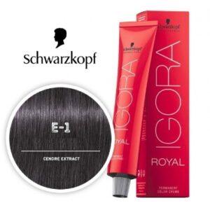 Ash E-1 Schwarzkopf Royal Igora Permanent Color