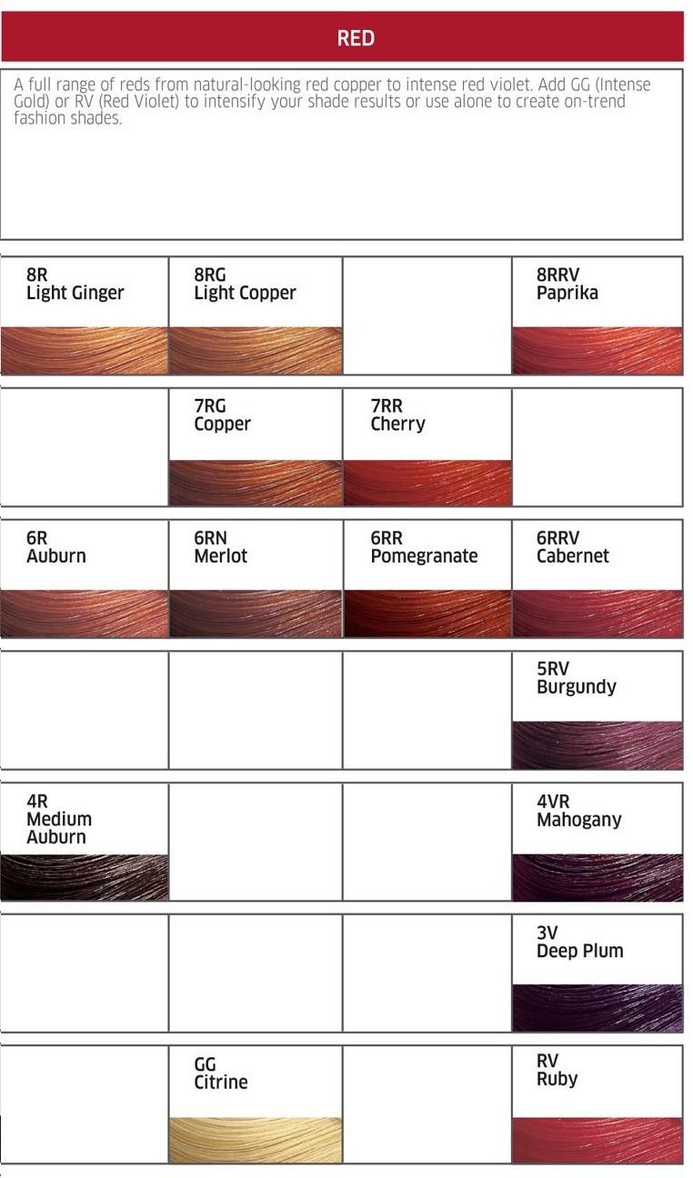 Wella Color Tango Shade Chart