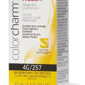 Dark Golden Brown 4G Wella Color Charm Permanent Haircolor