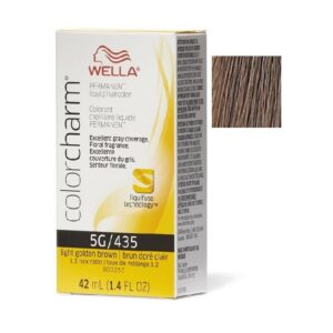 Light Golden Brown 5G Wella Color Charm Permanent Haircolor