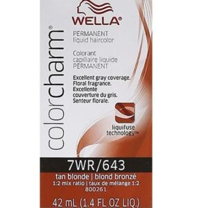 Tan Blonde 7WR Wella Color Charm Permanent Haircolor