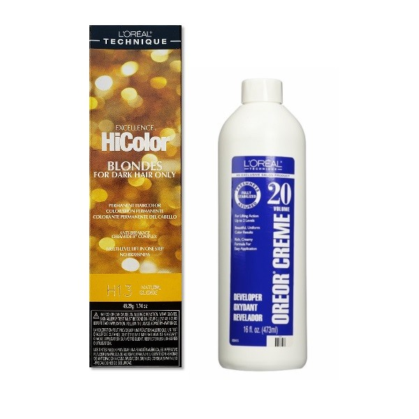 L'Oreal HiColor H13 Natural Blonde, Blondes For Dark Hair Only