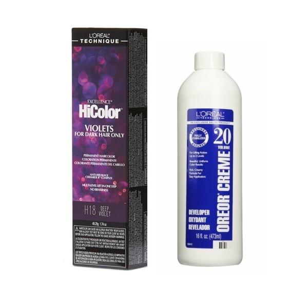 L'Oreal HiColor H18 Deep Violet, Violets For Dark Hair Only