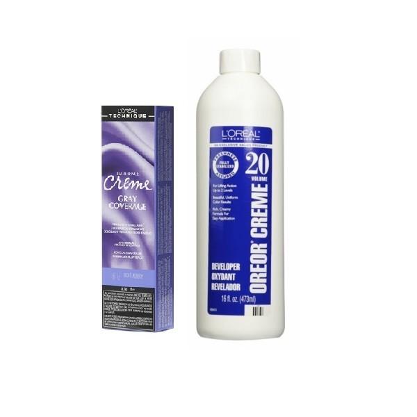 L'Oreal Excellence Creme Gray Coverage 6.6 Light Auburn Permanent Haircolor