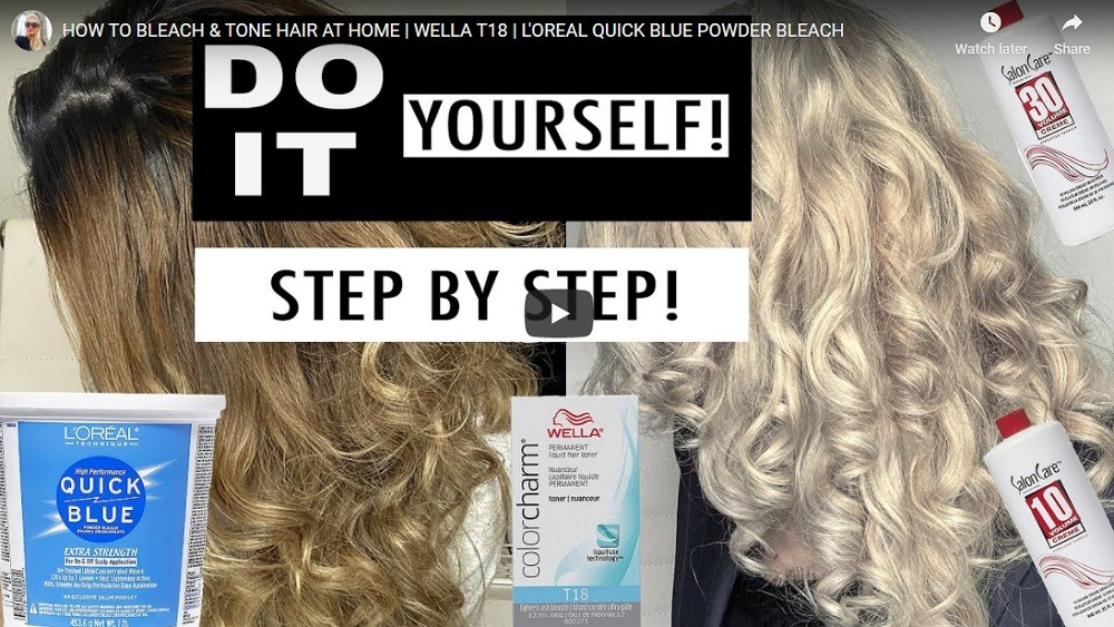 How to bleach and tone at home with Wella T18 and L'Oreal powder bleach